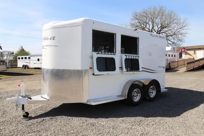 2018 Trails West Classic II 2 Horse Trailer - Lined and Insulated Roof