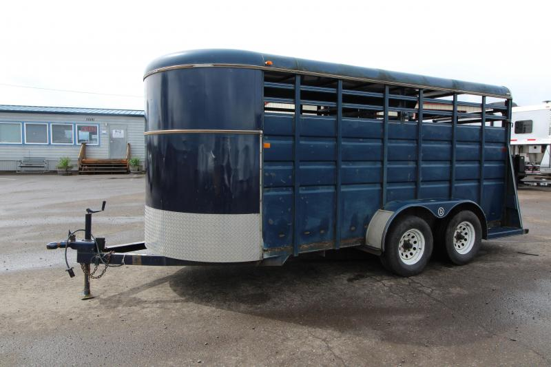 1996 Circle D Blue Stock Trailer Livestock Trailer