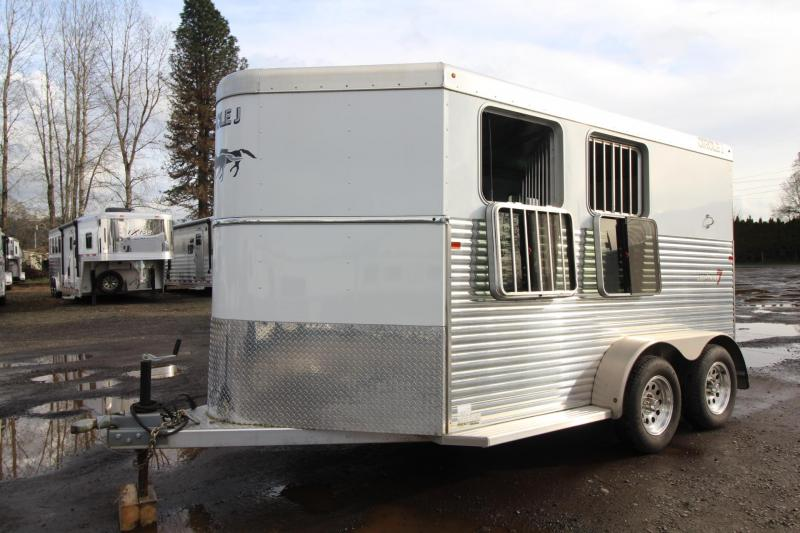 2014 Circle J Lightning 7 Aluminum 2 Horse Trailer - Upgraded Tack Room - EXCELLENT CONDITION- PRICE REDUCED $400