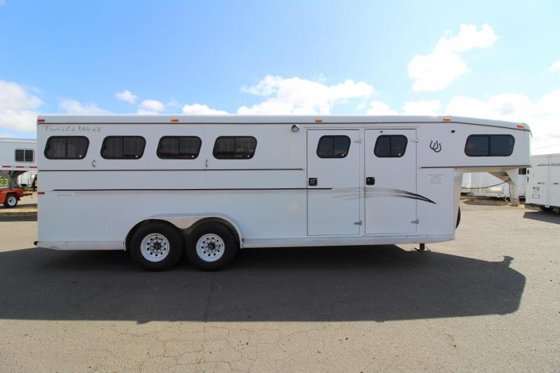 2000 Trails West Sierra 4 Horse Gooseneck Horse Trailer - Mangers - Side Tack