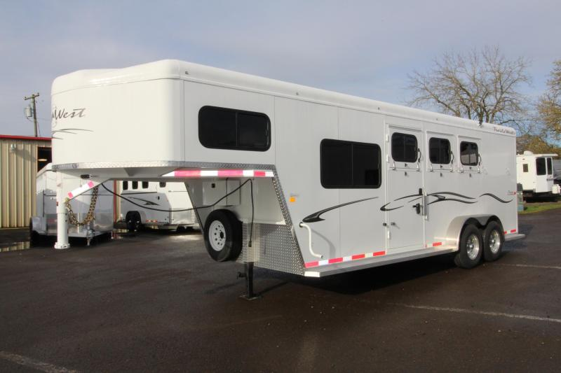 "2018 Trails West Classic Specialite 3 Horse - w/ 5x5 Comfort Package - Side Tack - 7'6"" Tall - Escape Door"