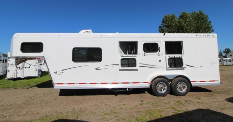 2019 Trails West Classic 8' x 13' Living Quarters PRICE REDUCED $1550- 3 Horse Trailer - Hoof Grip Flooring - Convenience Package - Soft Touch Ceiling
