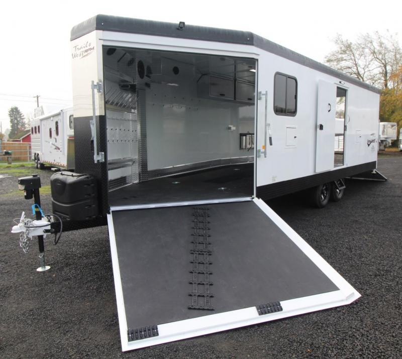 2019 Trails West 28ft RPM Burandt Edition Snowmobile Trailer w/ Power Rear Ramp