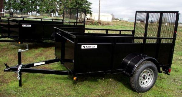 2014 Eagle 5x8 Single Axle Falcon Utility Trailer - Spare Tire & Mount