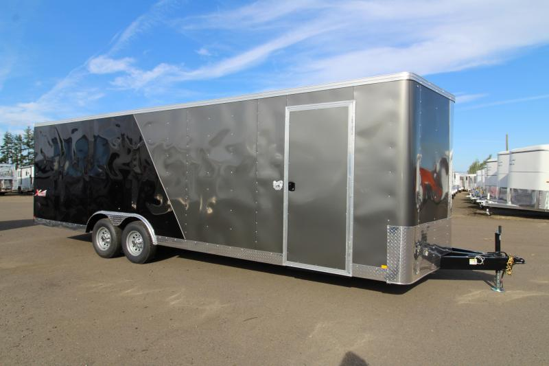 "2020 Mirage Xpres 8.5x24 Car / Racing Trailer - Car carrier package - V nose - Flat roof - 4"" Drop axles - Dome lights"