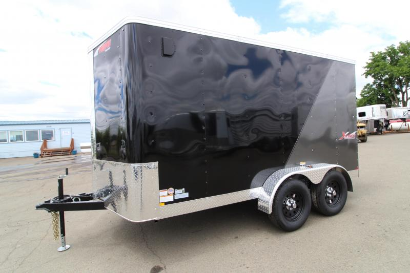 2019 Mirage Xpres 7x12 Enclosed Cargo Trailer - Xtra package- Ramp door - 1k fold down stabilizer jack