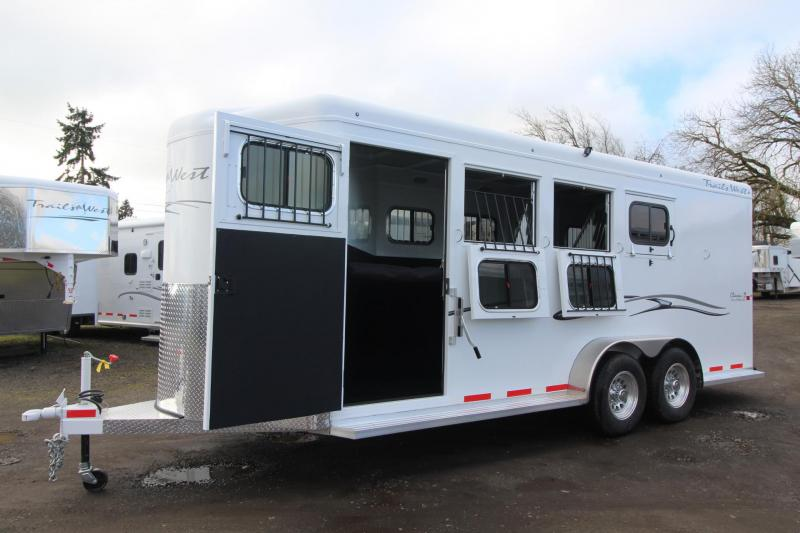 "2018 Trails West Classic II 4 Horse Trailer - 7' 6"" Tall -Escape Door - Aluminum Skin Steel Frame"