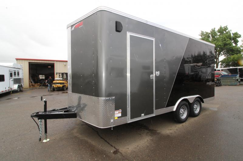 2019 Mirage Xpres 8.5x16 Enclosed Cargo Trailer - UPGRADED Side by Side Package - Dual Color Exterior - Rear Ramp - Side Air Flow Vents