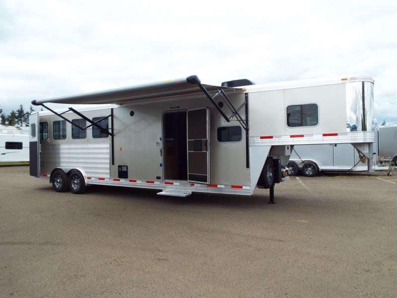 "2017 Exiss 8410 10 ft LQ 4 Horse Trailer - All Aluminum - 7'8"" Tall - Mangers - Stud  Wall- NEW EASY CARE FLOORING - TOTAL PRICE REDUCTION OF $5000"