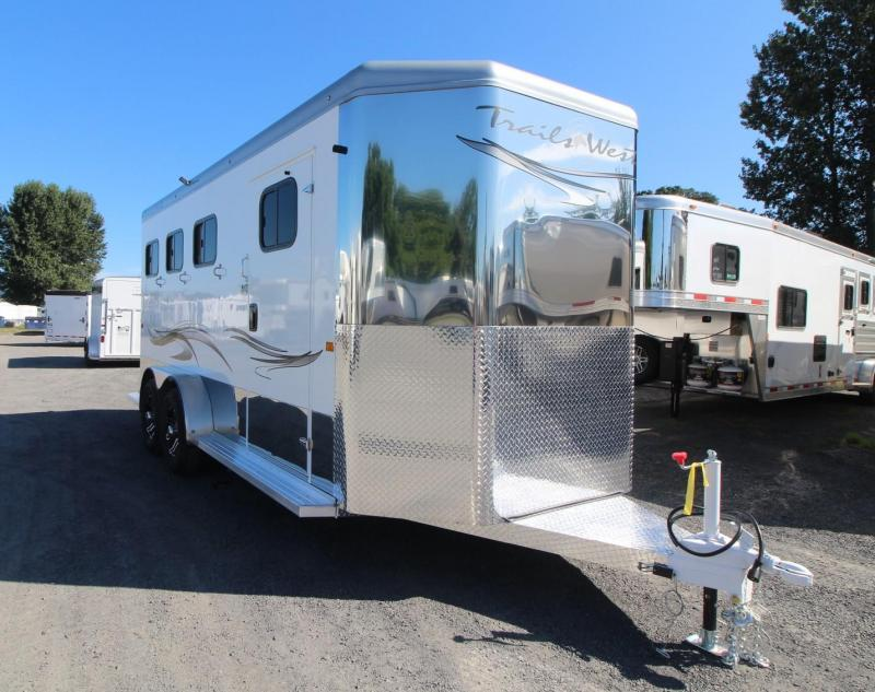 "2020 Trails West Sierra Select 7' 6"" T 3 Horse Trailer - Seamless Aluminum Vacuum Bonded Walls and Roof"