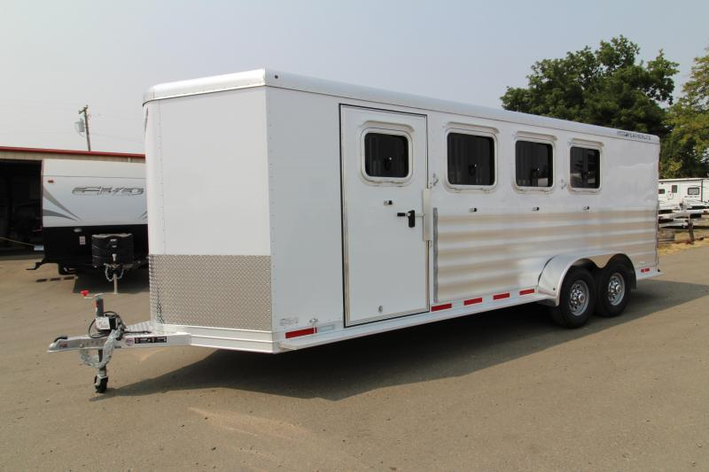 2019 Featherlite 9409 - 4 Horse All Aluminum Trailer - Extruded Aluminum Siding - Escape Door -