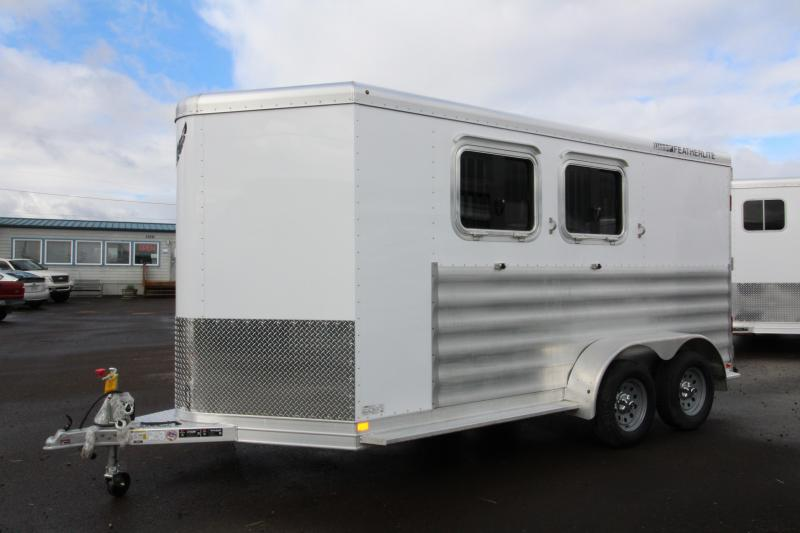 2018 Featherlite 9409 2 Horse Bumper Pull Trailer - All Aluminum - 7' Tall - Swing Out Saddle Rack - PRICE REDUCED  BY $1600