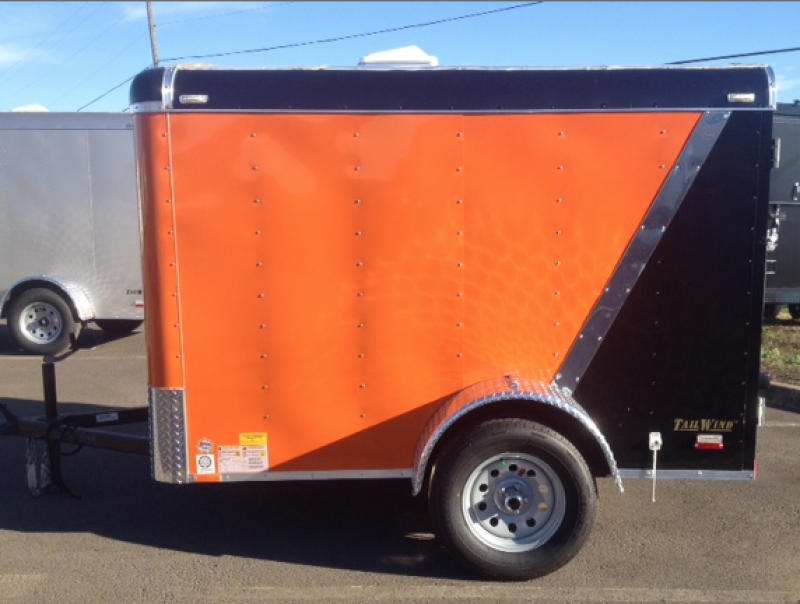 2015 Continental Cargo Tail Wind 5x8 Trailer - 5'4