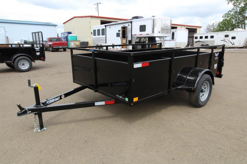 "2019 Eagle 6x10 Single Axle Lightspeed Utility Trailer -  24"" Ribbed metal sides - Split ""Lightspeed"" ramps - 2x6 Fir decking - Multi-leaf suspension"