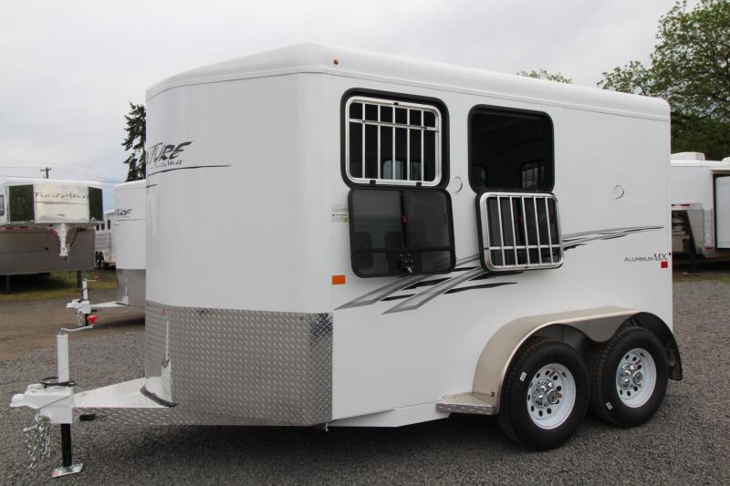 2018 Trails West Adventure MX II - Windows in rear doors - 2 Horse Trailer