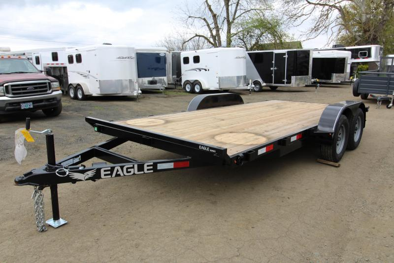 2019 Eagle Trailer 7x16 Tandem Axle 7k Flatbed Trailer