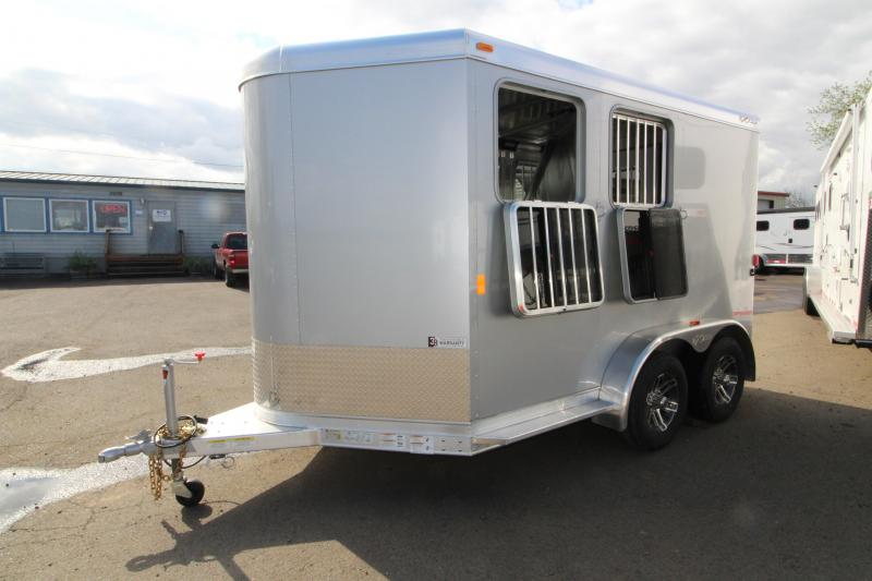2018 Exiss Trailers Express SS - 2 Horse Trailer - All Aluminum With UPGRADED Easy Care Flooring - Silver Exterior Siding - PRICE REDUCED BY $1300