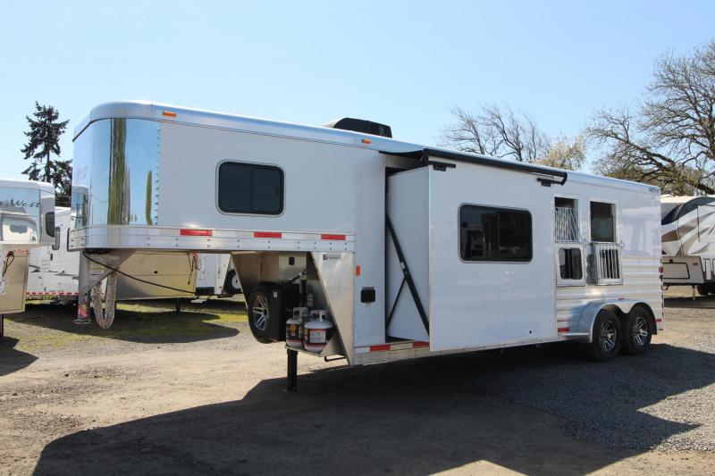 2018 Exiss Escape 7210 - 10' Short Wall LQ - 2 Horse Trailer