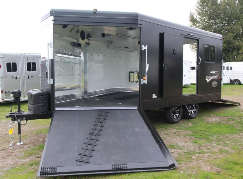 2019 Trails West RPM 20ft Burandt edition Snowmobile Trailer - Power rear ramp
