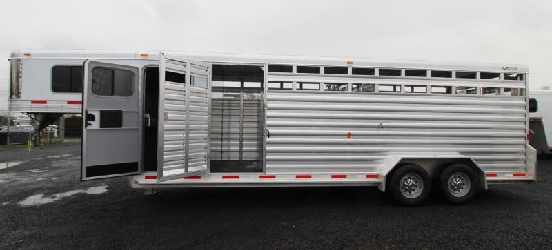 2019 Exiss STC 7024 - 24ft Livestock Combo Trailer w/ Tack Room