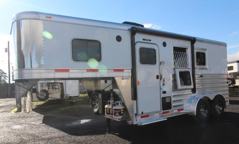 2019 Exiss Escape 7204 - 4ft short wall living quarters 2 Horse Trailer