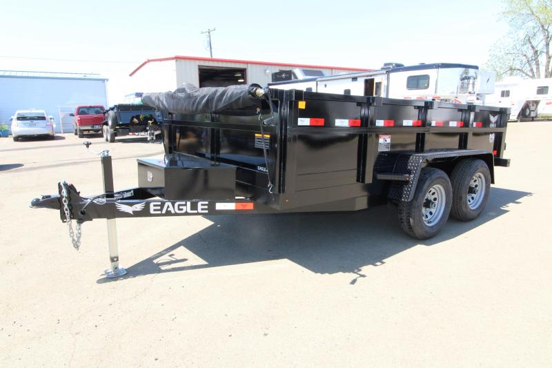 2019 Eagle Trailer 7x12 Dump Trailer with Mesh Roll Tarp