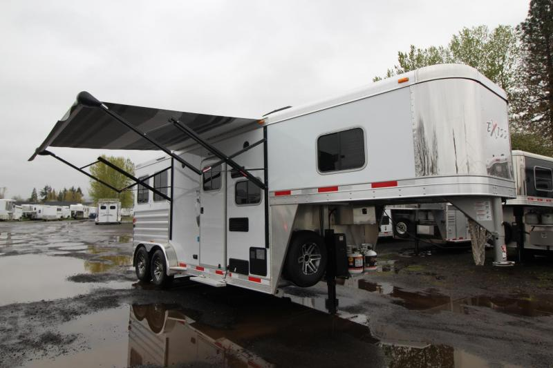 2018 Exiss Escape 7206 - 2 Horse 6ft short Living Quarters Trailer - Polylast Hoof Grip Flooring