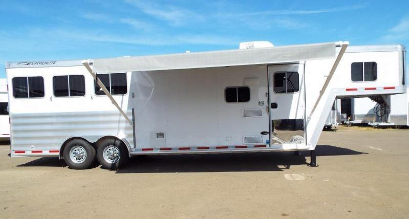 "2017 Featherlite 8542 - 9 ft LQ - 3 Horse - Mangers - All Aluminum Horse Trailer - 7'6"" Wide and Tall - LARGE Stall Size - TOTAL REDUCTION OF $7000!!!"