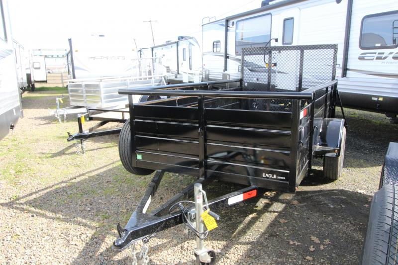 2019 Eagle 5 x 10 Ultra Classic with Deluxe Package Utility Trailer - 3500 lb Single spring leaf axle - 4' Expanded metal ramp w/ 2000# capacity - 2x6 Fir decking - Swinging side mount jack