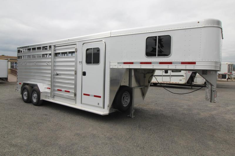 2019 Featherlite 8413 Stock Combo 20 ft Stock Trailer w/ tack room