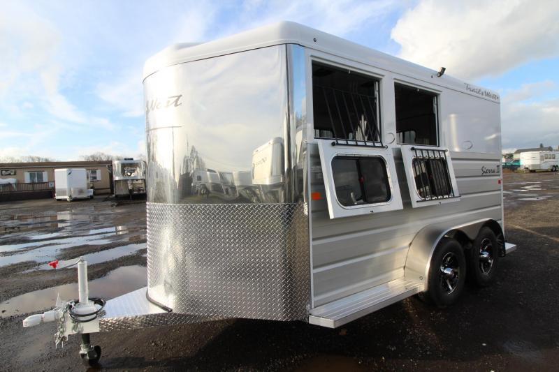 2018 Trails West Sierra II - 2 Horse Trailer - Extruded Aluminum Sides - Lined and Insulated