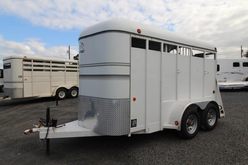 2003 Morgan 2 Horse Trailer w/ Swinging tack wall