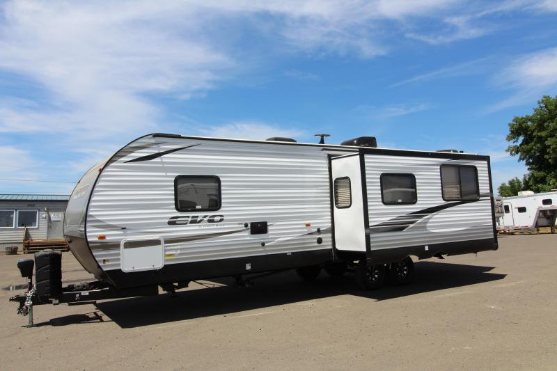 2018 Forest River Evo 2790 Travel Trailer - Rear Kitchen -  NEW Floor Plan - Loaded Options! Arctic Package - Solar Panel Package! Silver Birch Interior Decor - PRICE REDUCED BY $2000
