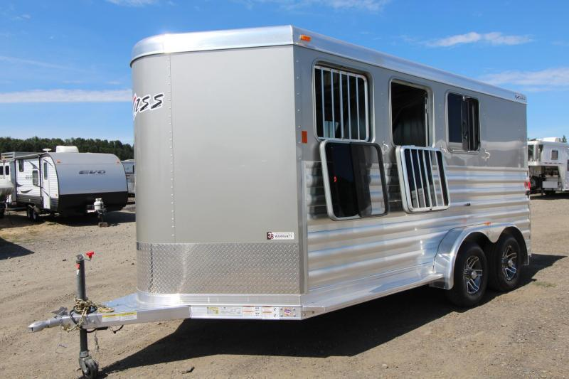 2018 Exiss Express - Polylast Flooring - Upgraded Thicker Side Sheets All  Aluminum 3 Horse Trailer