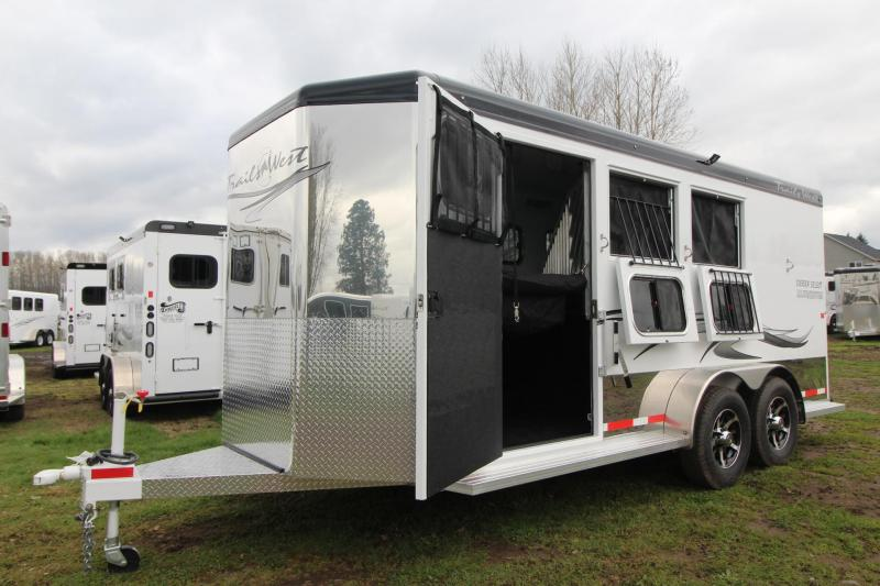 "2018 Trails West Sierra Select 7' 6"" Tall 3 Horse Trailer Seamless Aluminum Vacuum Bonded Walls and Roof - Insulated"