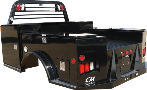 CM Truck Bed - TM Model w/ Easy Access Flip Top Side Boxes - AVAILABLE ON ORDER