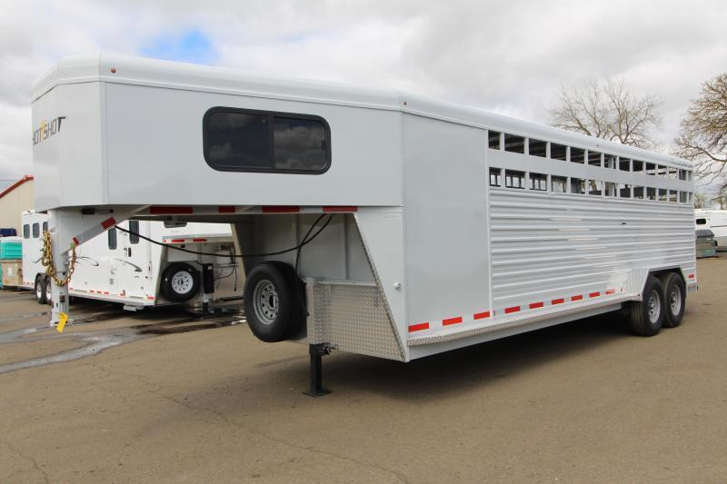 2019 Trails West Manufacturing Hotshot Livestock Trailer