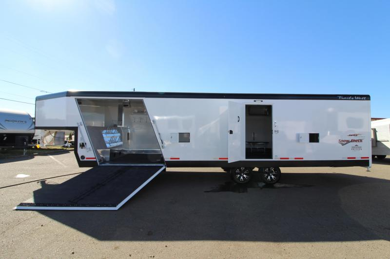 2019 Trails West  28' RPM Burandt Edition Snow Check Snowmobile Trailer - On Board Fuel Cell - Upgraded Car Hauler Option
