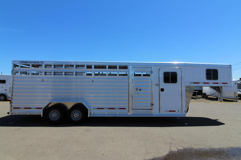 2019 Featherlite Stock Combo Trailer with Center Divider Gate and Fully Enclosed Tack Room