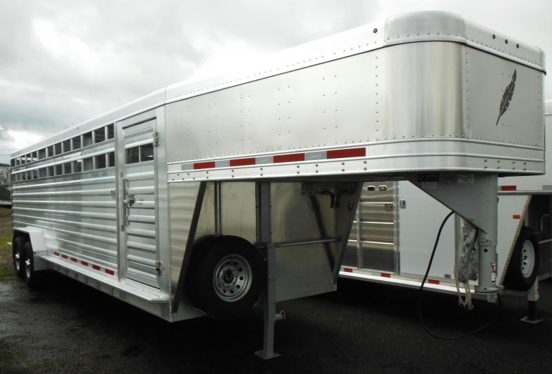 2014 Featherlite Model 8127 24' Stock Trailer w/ 2 Center Gates AVAILABLE ON ORDER
