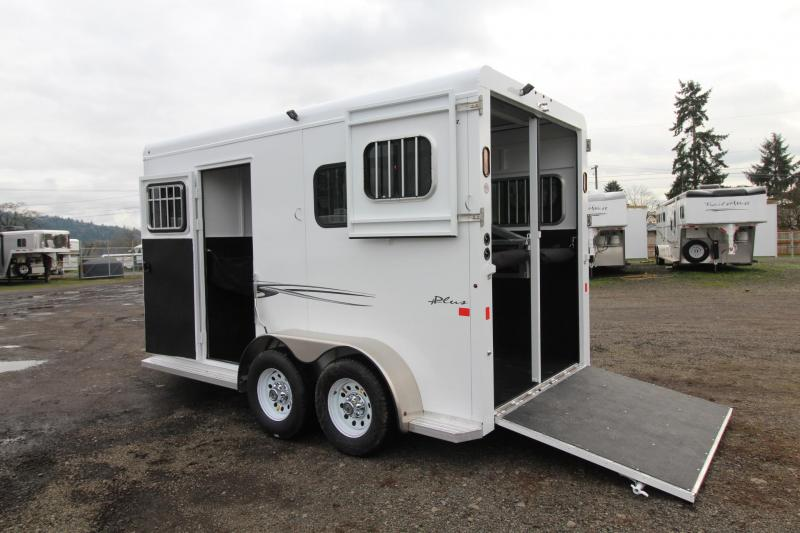 2018 Trails West Royale Plus 2 Horse Straight Load Warmblood Trailer - Steel Frame Aluminum Skin