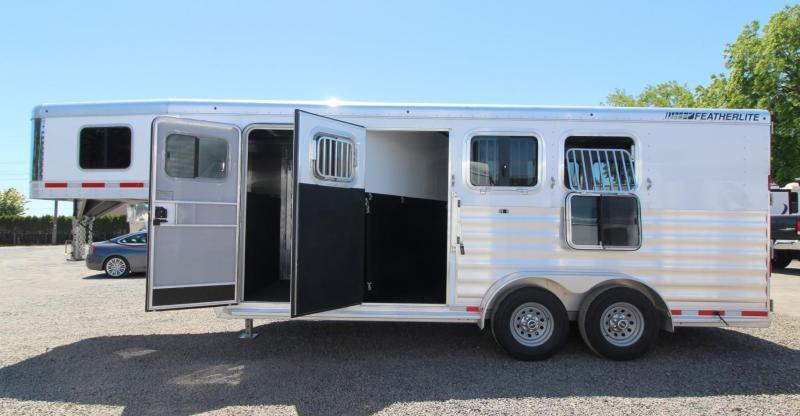 """2019 Featherlite 7541 Horse Trailer 7' Wide 7' Tall 56"""" Dressing Room - All Aluminum PRICE REDUCED $1590"""