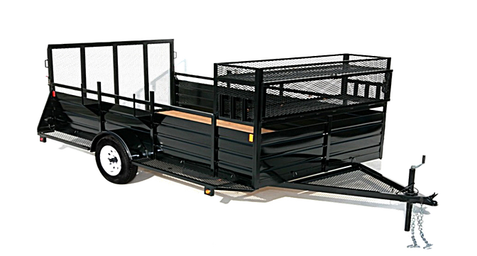 2019 Eagle 6x12 Single Axle Ultra Classic Utility Trailer with Landscape Package
