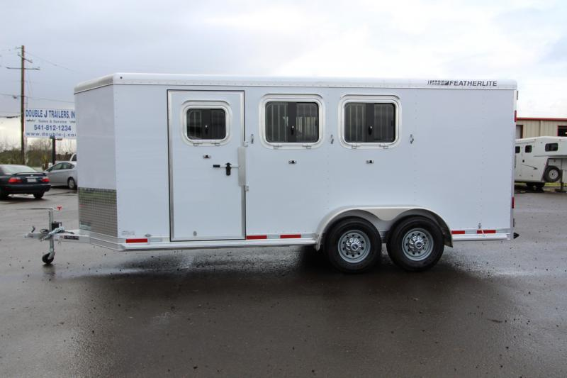 2018 Featherlite 9409 3 Horse Bumper Pull Trailer - All Aluminum - 7' Tall - First Stall Escape Door - PRICE REDUCED BY $2000