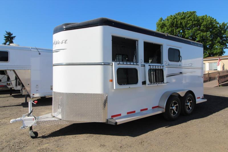 "2017 Trails West Sierra 7'6"" Tall - Aluminum Skin - Conv. Pkg 3 Horse Trailer - PRICE REDUCED!"