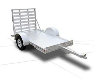 2014 Featherlite Model 1683 Flatbed Utility 4.5' Wide x 8' Long AVAILABLE BY ORDER