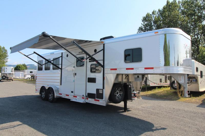 "2018 Exiss Escape 7306 - 6' 6"" Short wall LQ 3 Horse Trailer"