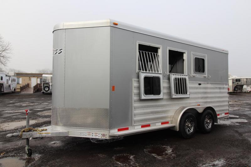 "2018 Exiss 730 - Polylast flooring - 7'6"" Tall - Extruded Sides - Upgraded Side Sheets -3 Horse Trailer W/ Rear Tack PRICE REDUCED $1025"
