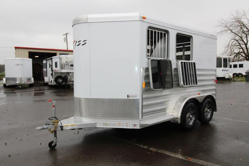 2018 Exiss Express CXF 2 Horse Trailer - All Aluminum - Fully Enclosed Tack - Air Flow Divider - Drop Down Head Side Windows - Plexi Glass Slats Tail Side - PRICE REDUCED BY $1100