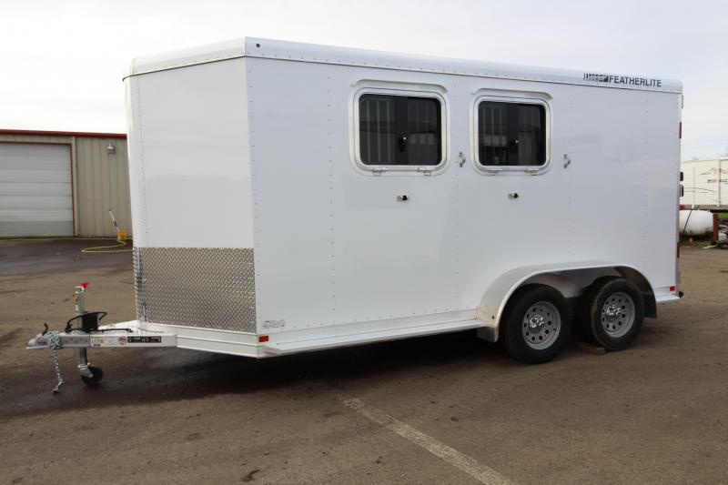 2017 Featherlite 9409 2 Horse Bumper Pull Trailer - All Aluminum - 7' Tall - Roomy Tack Room with Swing Out Saddle Rack